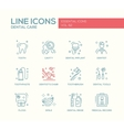 Dental Care - line design icons set vector image vector image