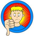thumb down vector image