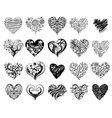 Tattoo hearts vector image