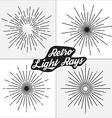 Retro light rays design vector image vector image