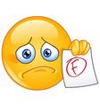 f grade emoticon vector image vector image