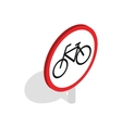 Bicycle sign icon isometric 3d style vector image