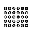button icon set vector image