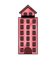 italian building icon vector image