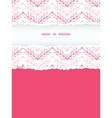Pink lineart leaves chevron vertical torn seamless vector image