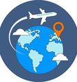 Travel destination concept Flat design Icon in vector image