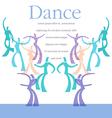 Dance Art template vector image vector image