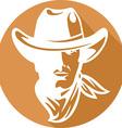 American Cowboy Icon vector image
