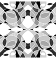 White and black geometric mosaic background with vector image