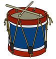 Classic color drum vector image