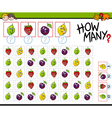 how many fruits activity vector image vector image