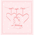 14 feb greating card vector image