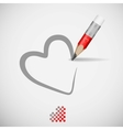 Pencil And Heart vector image