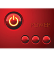 red power button vector image vector image