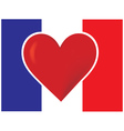 heart france flag vector image vector image