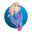 Mermaid with blond hair vector image
