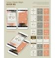 Calendar and Weather Mobile App Widgets UI Designs vector image