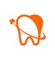 Logo Dental Healthy Care Tooth Protection Oral vector image