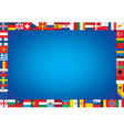 background with flags vector image vector image