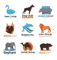 Wild Animals Flat Emblems Collection