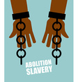 Abolition of slavery Hands black slave with broken vector image