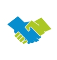 Abstract of a handshake vector image