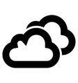 Clouds Stroke Icon vector image