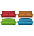 Colorful couches vector image