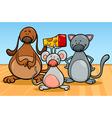 cute pets characters cartoon vector image