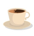 delicious coffee drink icon vector image