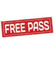 free pass sign or stamp vector image