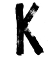 Hand written brush font type alphabet Detailed vector image
