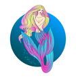 Mermaid with blond hair vector image