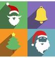 Santa claus and christmas New Year flat design vector image
