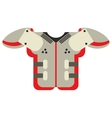 shoulder pad american football equipment vector image