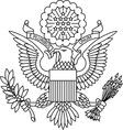 US passport seal vector image