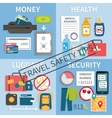 Travel safety tips vector image