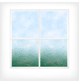Frosted glass window vector image vector image