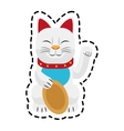 Isolated cat of china design vector image