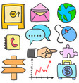 element business various doodles style vector image