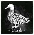 duck cutting scheme chalk vector image