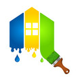 painting a house for business vector image vector image