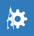 icon on gear and tool vector image vector image