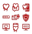 IT security and software bug icons vector image vector image