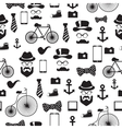 Seamless pattern in hipster style vector image