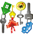 keys vector image