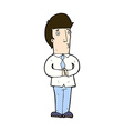 comic cartoon nervous man vector image