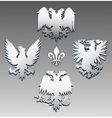 Silver eagle vector image vector image