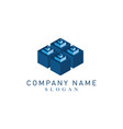 cubes logotype vector image