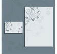 Floral letterhead and business card vector image
